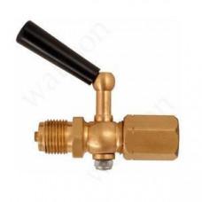 РОСМА Трехходовой кран G1/2 - G1/2 наруж. - внутр. с фторопластовой прокладкой, Рраб = 2.5 МПа