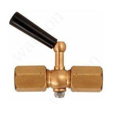 РОСМА Трехходовой кран G1/2 - G1/2 внутр. - внутр. с фторопластовой прокладкой, Рраб = 2.5 МПа