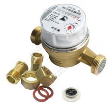 МЕТЕР Счетчик воды Невод-15 универсальный, L = 110 мм + к-т штуцеров, обратный клапан - вставной