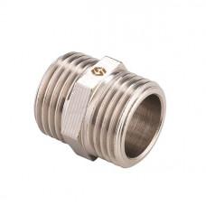 MVI Ниппель латунный никелированный НР ½